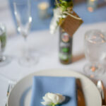 ranunculus on place setting