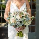 Rose, hydrangea, anemone and dusty miller bouquet